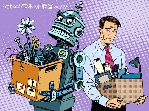 人間の仕事を奪うロボット