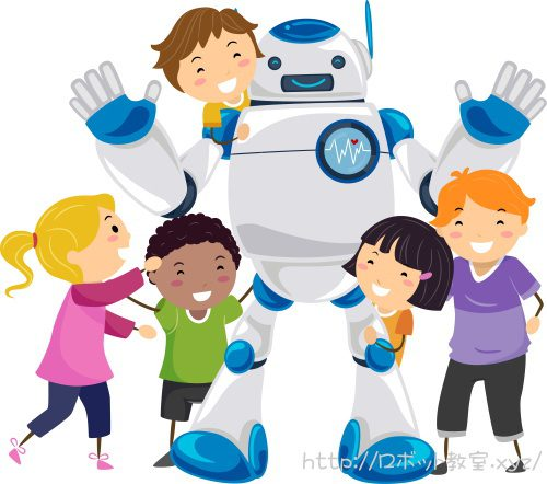 ロボット教室プログラミング教室で勉強する小学生
