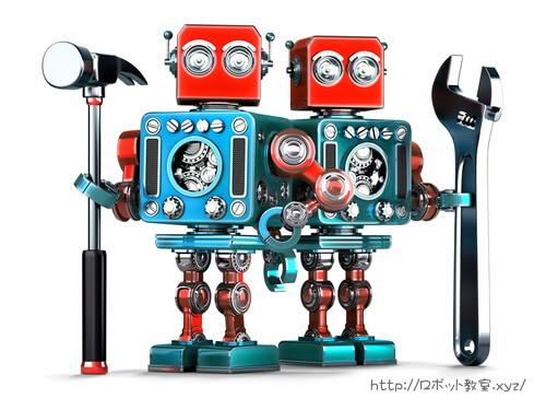 機械の修理も得意なロボット
