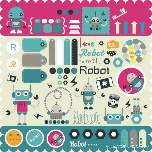 ロボット雑貨のイラスト