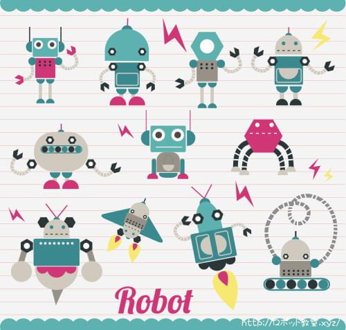 いろいろな表情のロボット