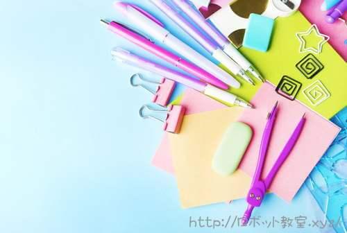 シャーペン・ノート文房具。中学受験に必需品の文房具