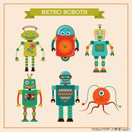 レトロな二足歩行ロボット