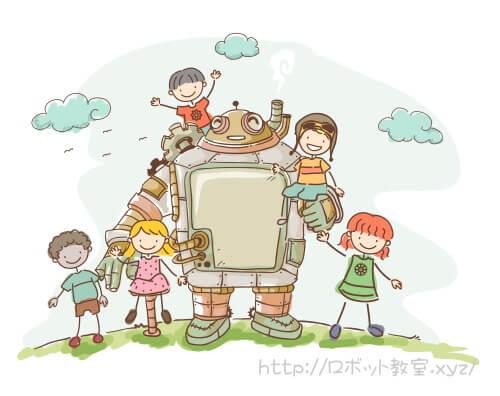 ゴーレムロボットと子ども