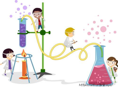 科学実験をする小学生