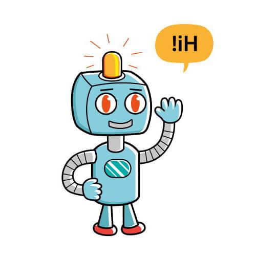 会話するロボット。興味深いね。