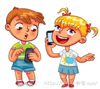 スマホで会話する女の子と男の子。プログラミングの基礎を子どもに遊びながら教える方法