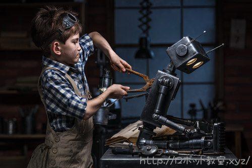 ロボットを作るときの集中力がすごい