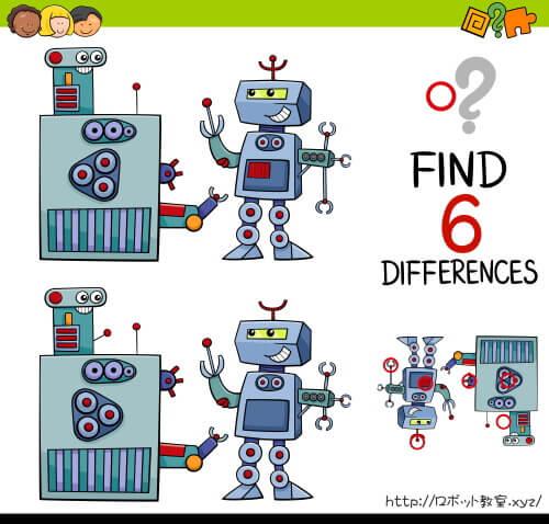 ロボットのイラストの間違いを探そう