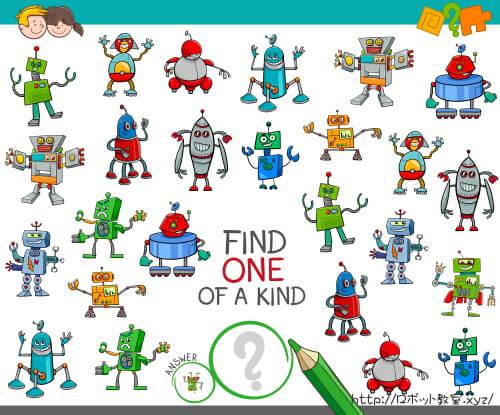 同じロボットを見つけるゲーム