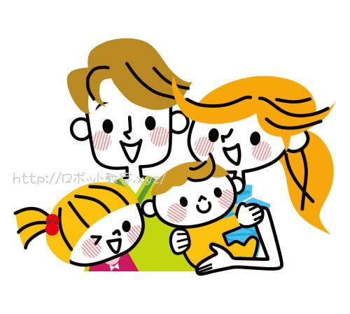 娘・息子・ママ・パパの4人家族