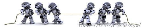 ロボット運動会でつなひき。NHKロボコン