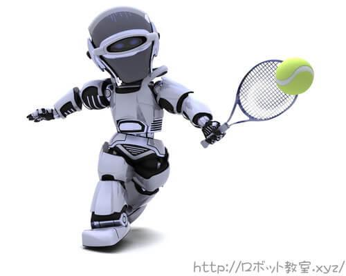 テニス大会で活躍するロボット