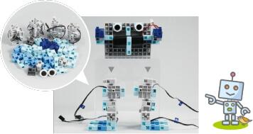 組み立てたロボットをプログラミングで制御します