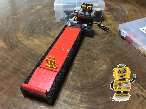 平野区のロボット教室で作ったボウリングロボは遊べて楽しい