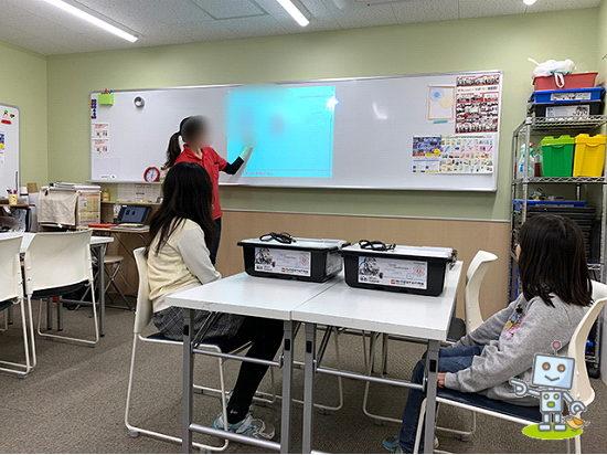 栄光ロボットアカデミーの体験授業の様子