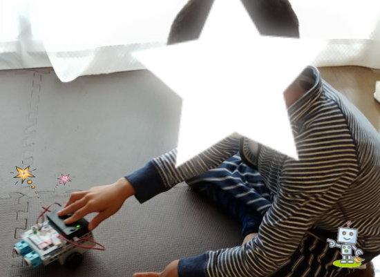 自考力キッズはロボット・プログラミング教材を自宅へ持ち帰りできます。